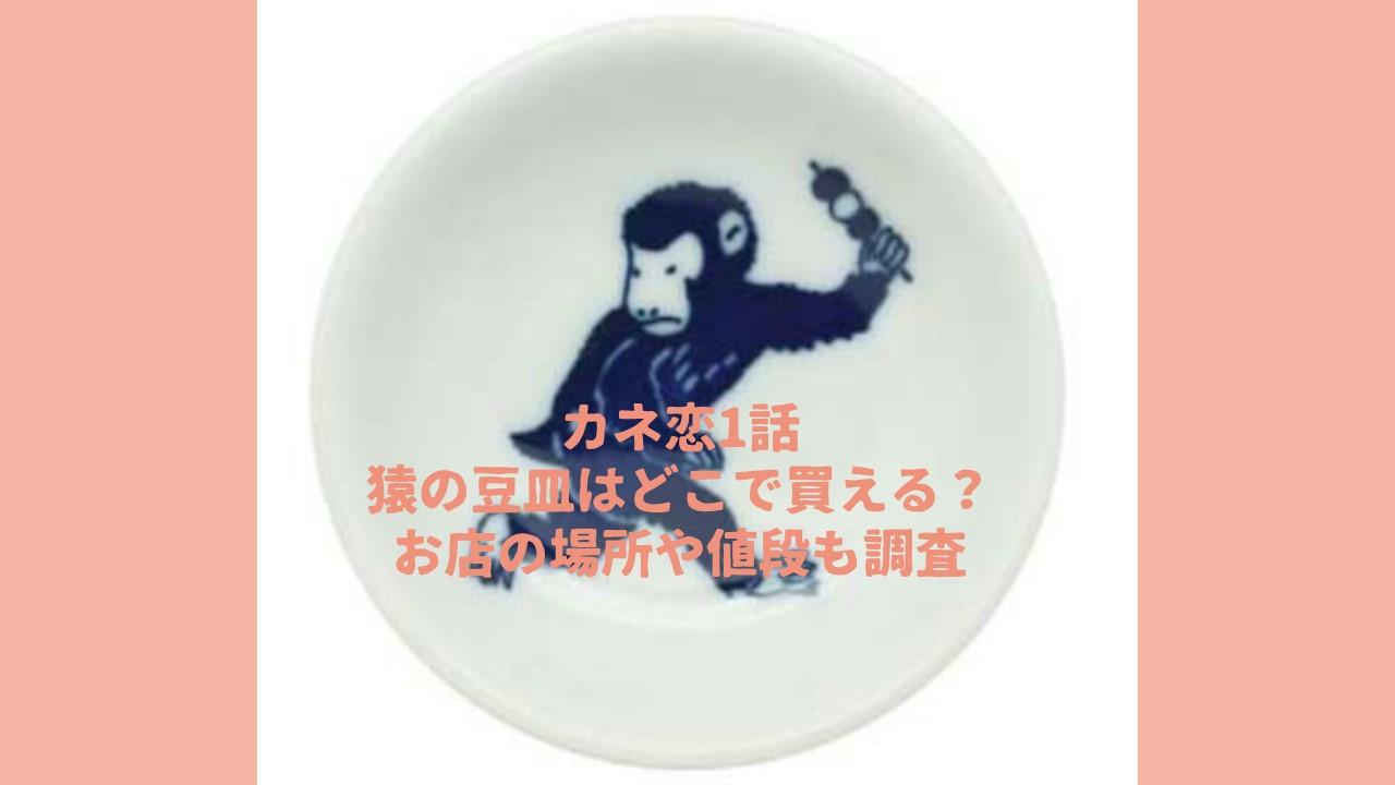 カネ恋の猿の豆皿はどこで買える?お店の場所や値段も調査