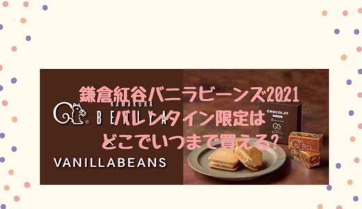 鎌倉紅谷バニラビーンズ2021バレンタイン限定はどこでいつまで買える?